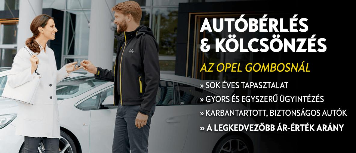 Autóbérlés és kölcsönzés az Opel Gombosnál, Budapesten