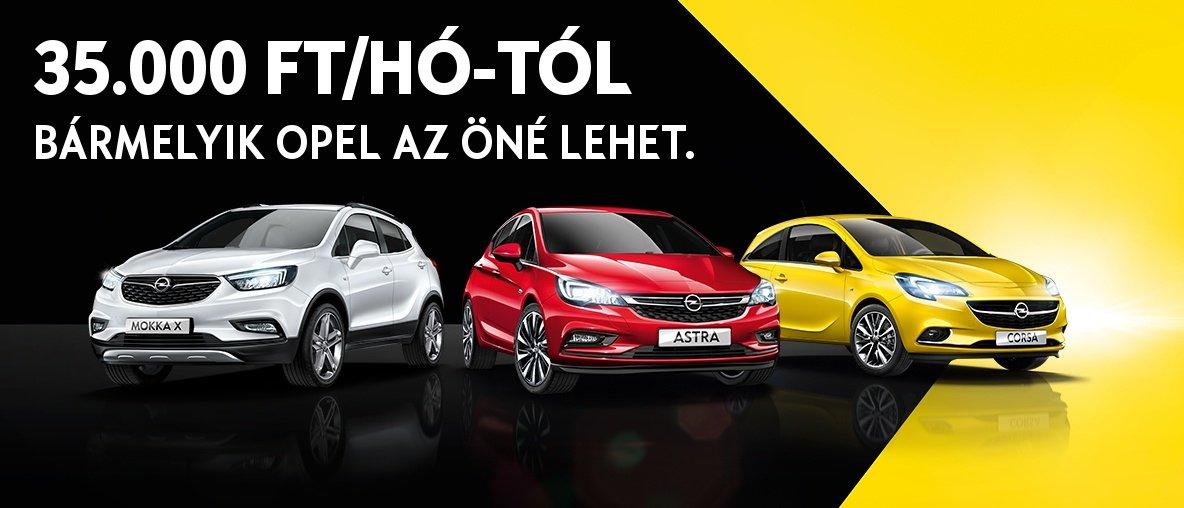 35.000 Ft/hó-tól bármelyik Opel az Öné lehet