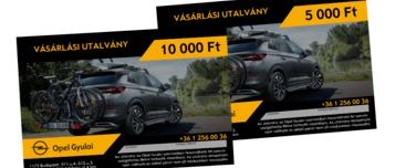 Opel Gyulai vásárlási utalvány