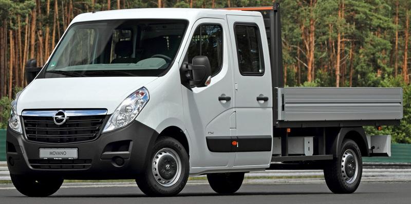 Opel Movano duplafülkés platós